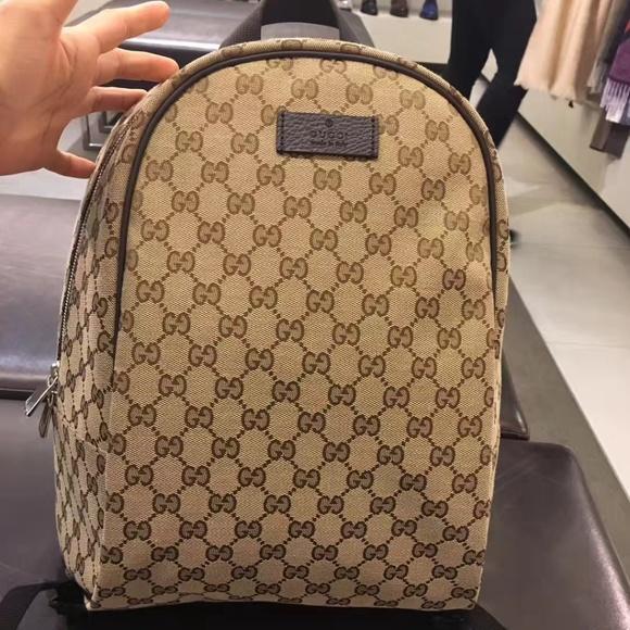 10580a462ea Gucci Bags   Canvas Ssima Backpack   Poshmark